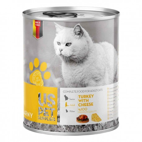 كنسرو گربه بالغ حاوي گوشت بوقلمون به همراه پنير 400 گرمي