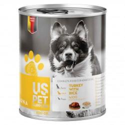 كنسرو سگ بالغ حاوي گوشت بوقلمون با برنج 800 گرمي