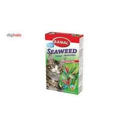 قرص مخمر گربه به همراه ویتامین با طعم جلبک دریایی سنال 50 گرمی