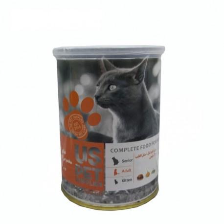 غذای کنسرو مخصوص گربه بزرگسال 400 گرمی مرغ و کدو تنبل و سنبل الطیب